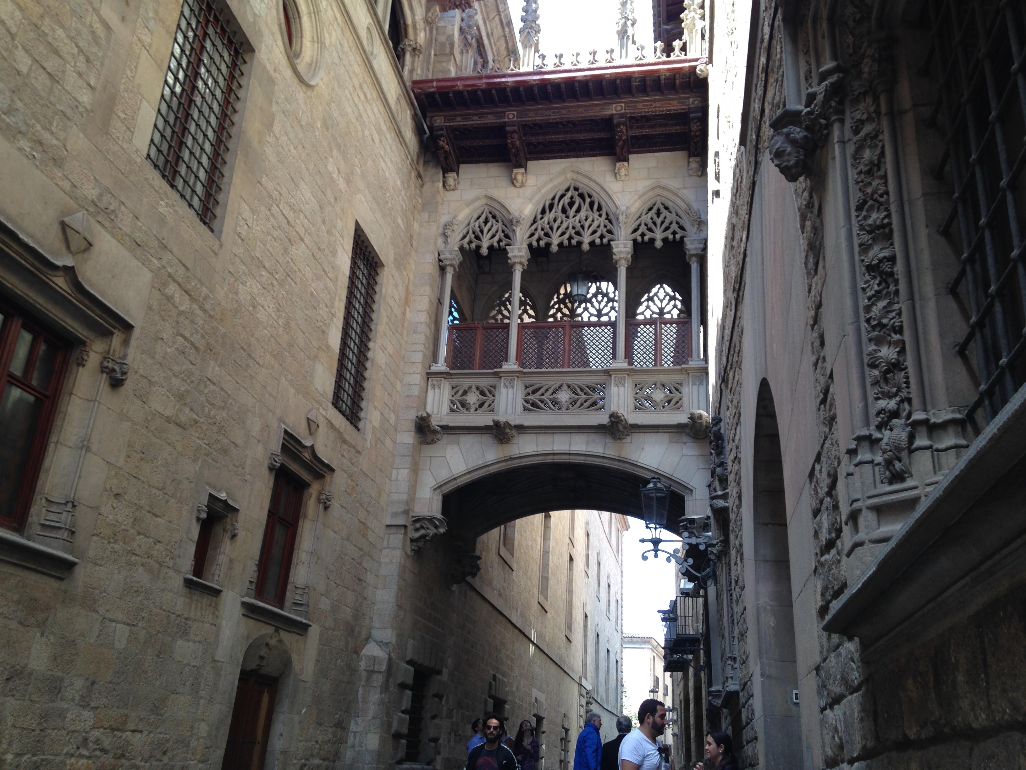 El Pont del Bisbe in the Gothic Quarter