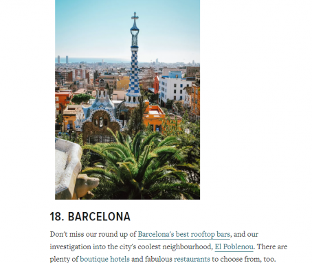 The Best Cities in the World 2019 on Condé Nast Traveller